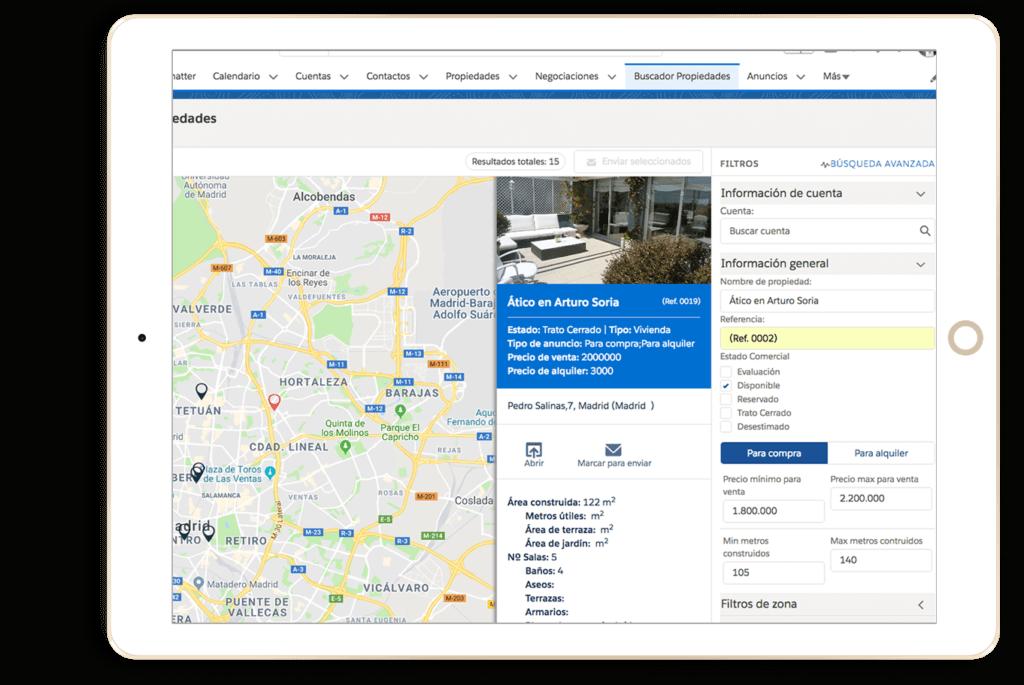 CRM Inmobiliario maps