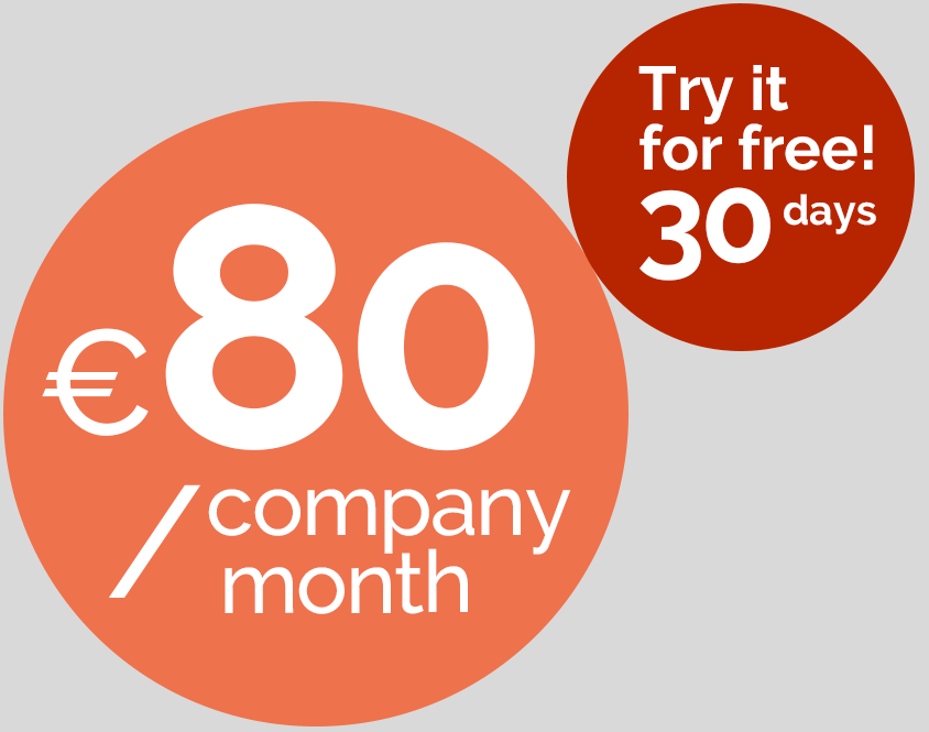 80€/company/month