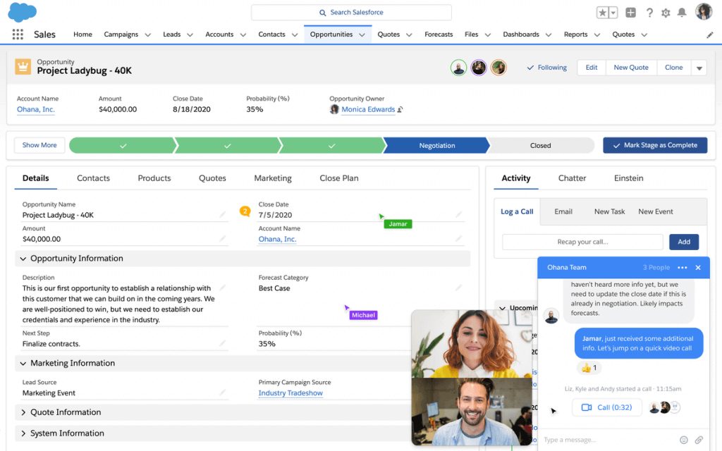 Salesforce Anywhere contacts