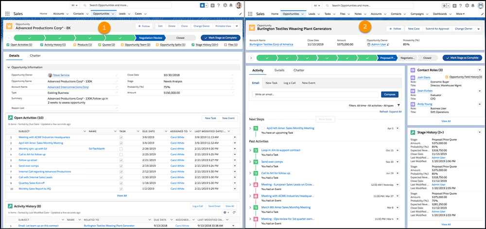 Salesforce summer release-Full View in Page Formats