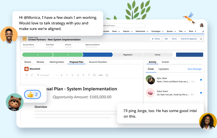 Salesforce Anywhere chat